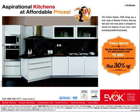 Cheap Modular Kitchen Delhi by Evok Mega Home Store Modular Kitchen At Affordable