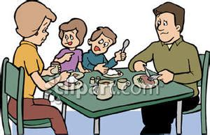 gambar luncheon of the boating party family eating dinner royalty free clipart picture