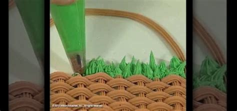 How Make Cake Decorations by How To Make Serrated Grass Icing Decorations For Cake