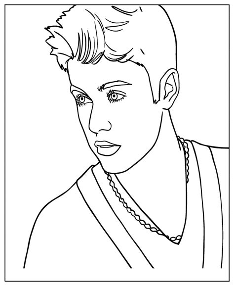 free justin bieber coloring pages coloring home