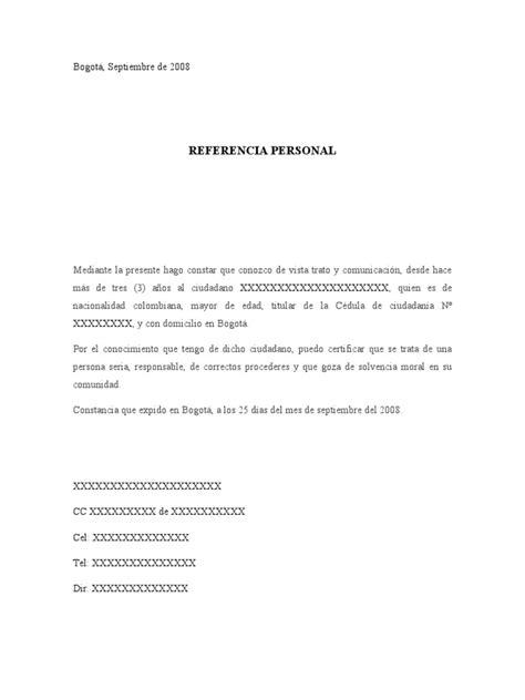 una carta para lily formato referencia personal