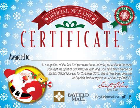 santa claus certificate template santa certificate
