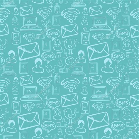 pattern background icon social media cartoon icons pattern stock vector