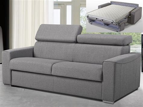 Canape Angle Tissus 1021 by Canap 233 3 Places Convertible Express En Tissu Gris Vizir