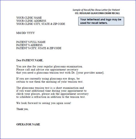 Sle Recall Letters Normal Pap Smear Letter Template