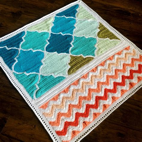 pattern library crochet pattern babylove brand trellis and chevron blanket crochet