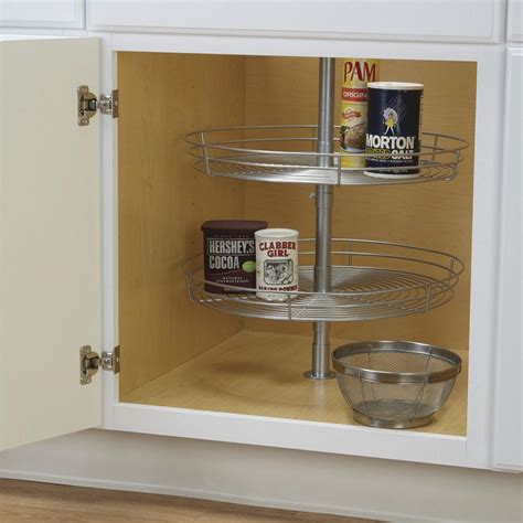 lazy susan cabinet organizer double tier round lazy susan household 1118 1 cabinet