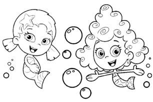 nick jr coloring pages bubble guppies www imgarcade