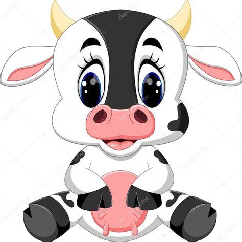 imagenes de vacas kawaii caricatura lindo beb 233 vaca vector de stock