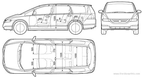 Honda Odyssey Interior Dimensions by The Blueprints Blueprints Gt Cars Gt Honda Gt Honda Odyssey 2005