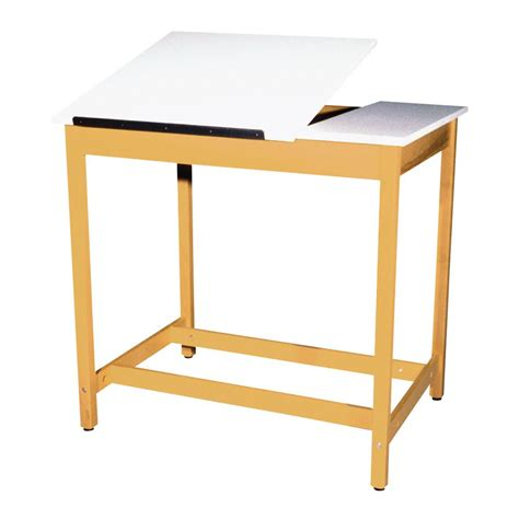 Drafting Art Table With Board Storage 2 Piece Adjustable Drafting Table Storage