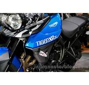 Triumph Tiger 800 XRx Badge At The EICMA 2014  Indian