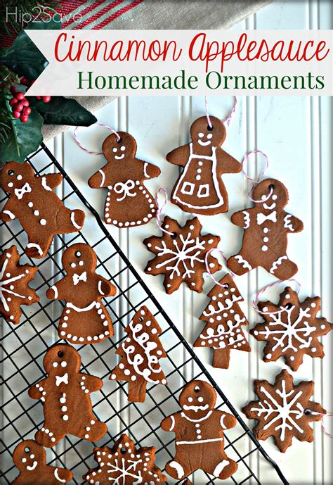 homemade cinnamon applesauce ornaments fun easy holiday