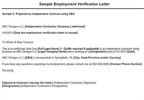 Letter Format To Verify Employment Employment Verification Letter Templates Free Premium Creative Template