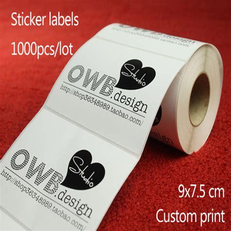 Sticker Graftac Custom 7 Cm X 7 Cm 9x7 5cm custom print logo barcode stickers packaging