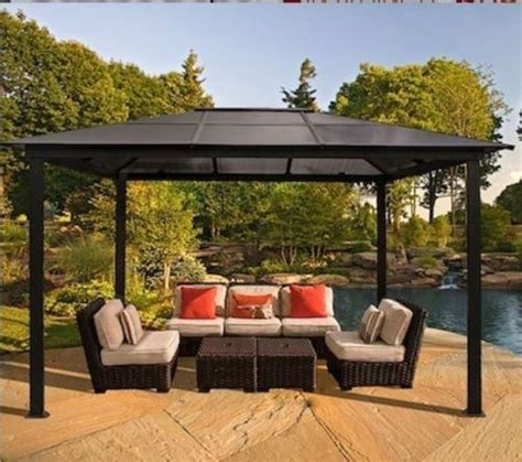 Patio Furniture Gazebo Outdoor Patio Furniture Gazebo Pergola Top Cover 10x13 Tent Cabana Aluminum Furniture