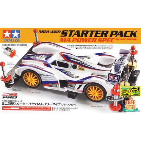tamiya mini 4wd starter pack ma power spec blast arrow