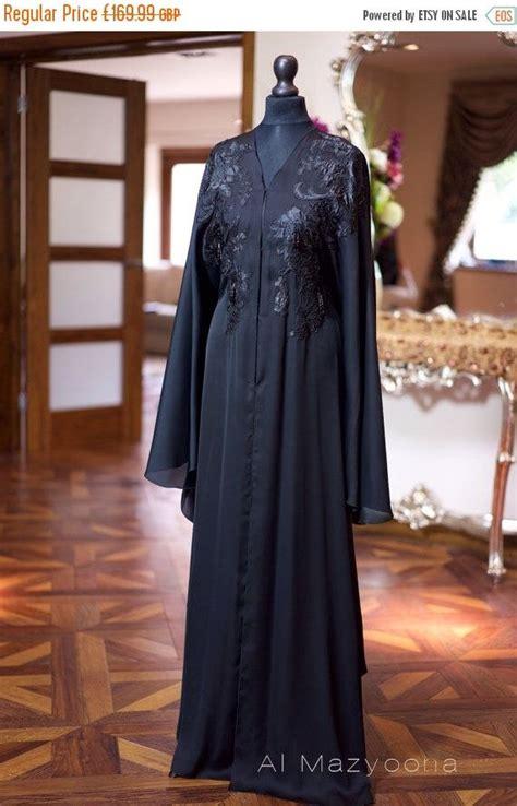 011 Baju Muslim Gamis Maxi Abaya Glamor on sale al mazyoona black embroidered wedding bisht