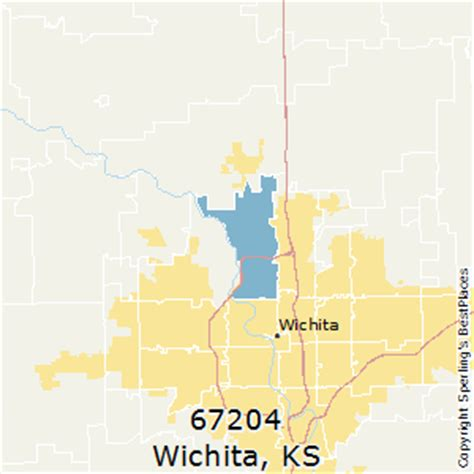 zip code map wichita ks best places to live in wichita zip 67204 kansas