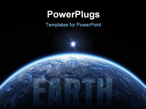 powerpoint templates free download universe powerpoint template view of the earth surface from the
