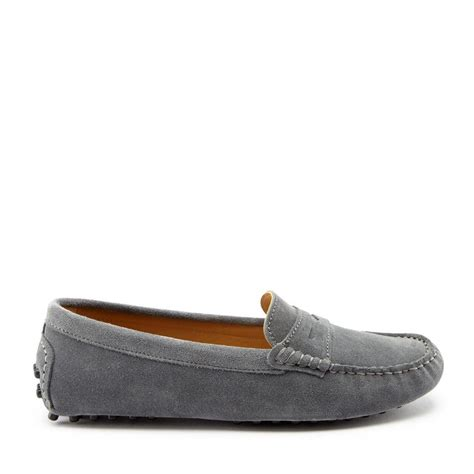 womens driving loafers s driving loafers slate grey suede hugs co