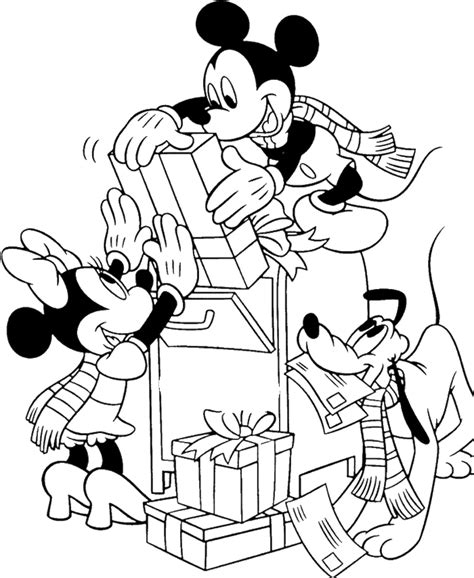 mickey mouse christmas coloring pages coloring home