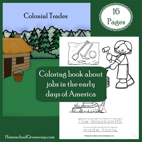 coloring book giveaway free colonial coloring book