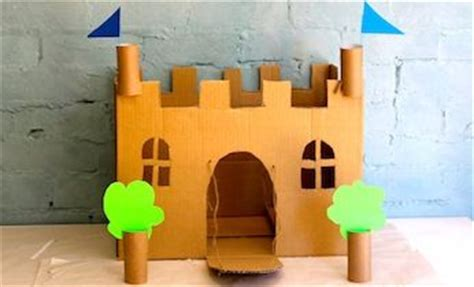 How To Make A Paper Castle By Steps - cardboard castle search and house