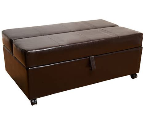 fold out ottoman bed roll away faux leather ottoman with fold out mattress