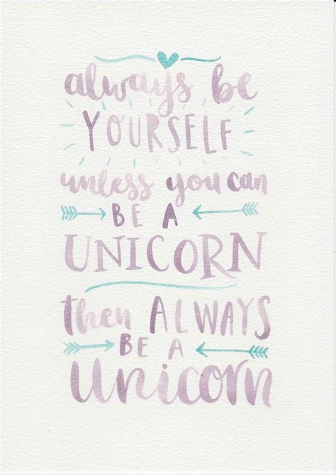 printable unicorn quotes unicorn quote purple mint nursery art watercolor