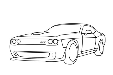 how to draw a dodge challenger drawingforall net draw dodge challenger 2018 dodge reviews