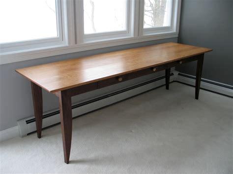 custom writing desk  drawers  walnut  cherry