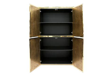 Metal Bar Cabinet Maison Jansen Brass Bar Cabinet At 1stdibs