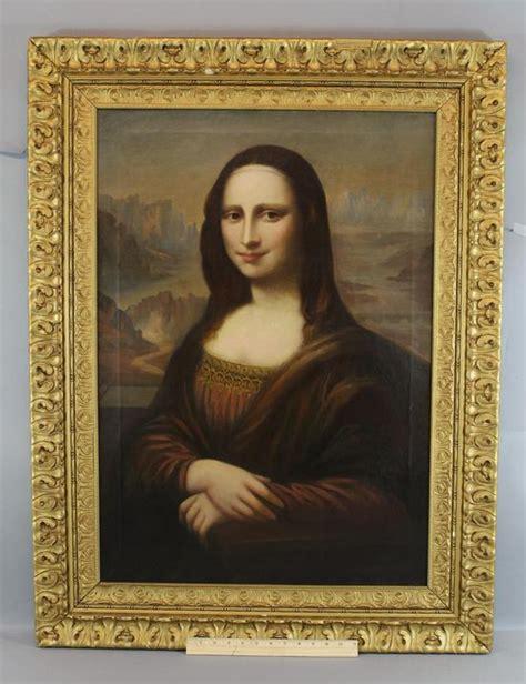 biography leonardo da vinci mona lisa large life size o c oil painting after leonardo da vinci