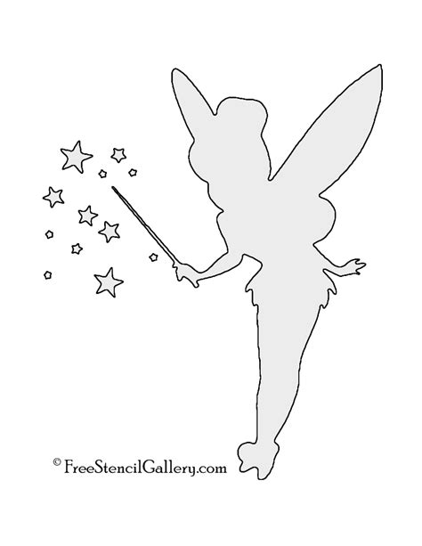 tinkerbell template tinkerbell silhouette printable www imgkid the
