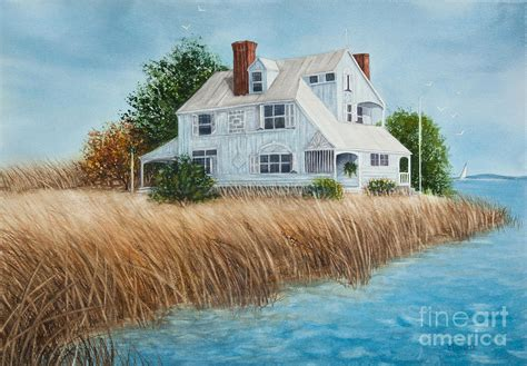beach house paintings blue beach house painting by michelle wiarda constantine