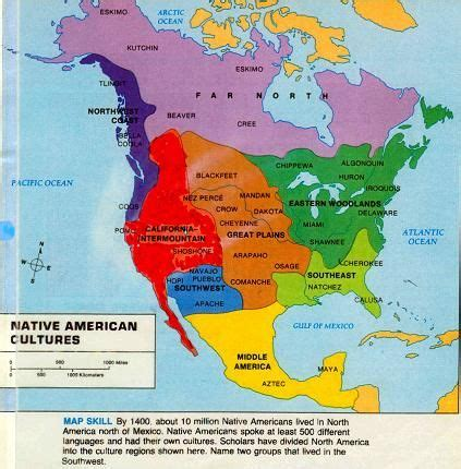 map of american tribes in oklahoma american cultures map americans