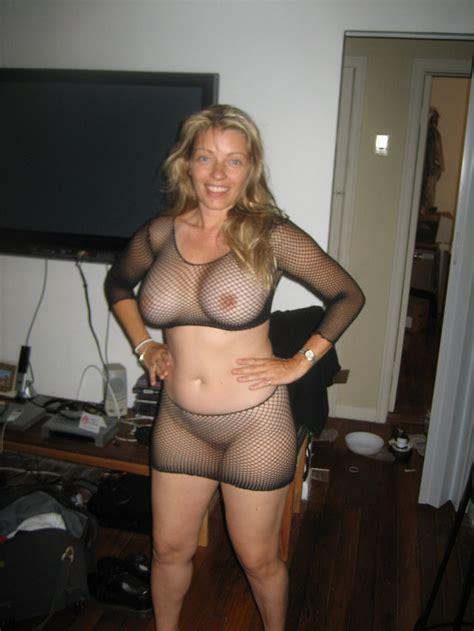 Ready For A Nite Out A Milf Mesh Fishnet Cum Slut Lisa Wantsmore Mature Blonde White Caucasian