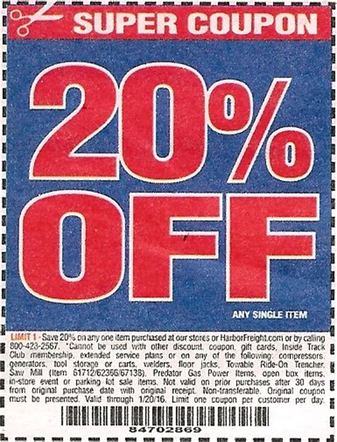 harbor freight coupons 20 off printable harbor freight trailer coupon 2018 cyber monday deals on