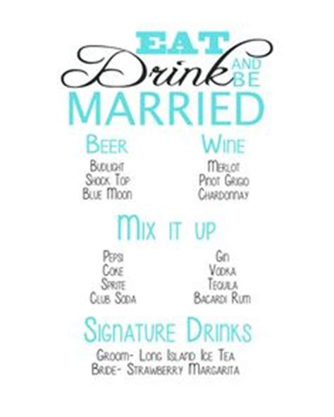 wedding drink menu template 1000 images about wedding drink table bar on