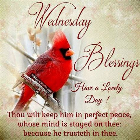 wednesday blessings have a lovely day religious quote