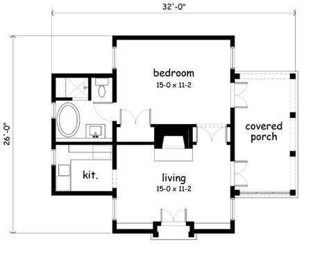 guest house plans 500 square feet southern living house plan artfoodhome com