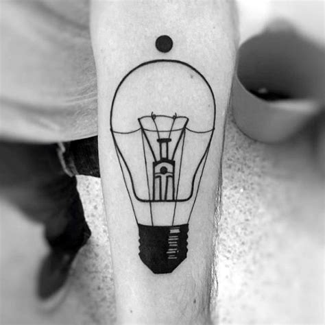 simple tattoo linework 75 light bulb tattoo designs for men bright ink ideas