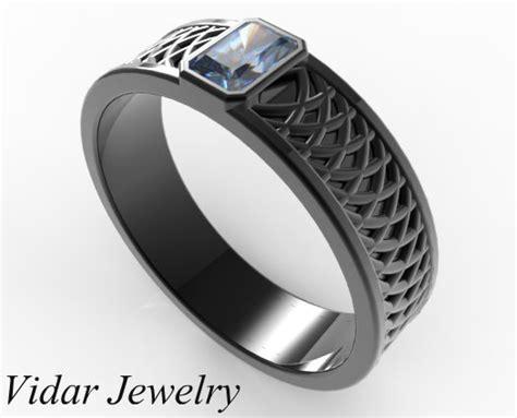 s radiant cut blue sapphire wedding band vidar