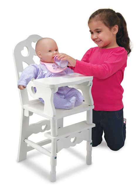 and doug high chair and doug wooden doll high chair md9382 77