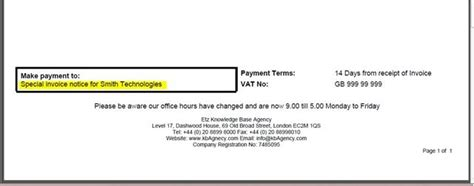 sle invoice bank details add information comments or text to a sales invoice etz