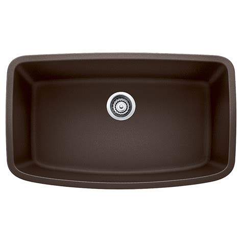 brown kitchen sinks shop blanco valea 19 in x 32 in cafe brown single basin