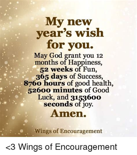 new year wish you health my new year s wish for you may god grant you 12 months of