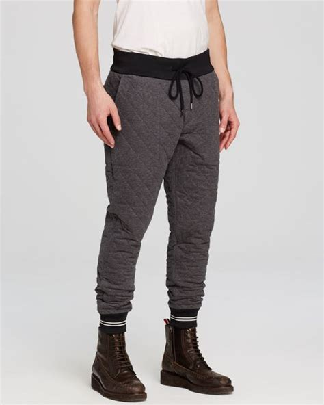 Quilted Joggers by Moncler Pantalone Quilted Joggers In Gray For Grey