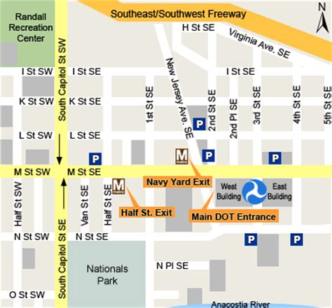 washington dc metro map navy yard directions to dot headquarters us department of